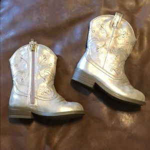 Gold boots toddler size 8 cowgirl boots